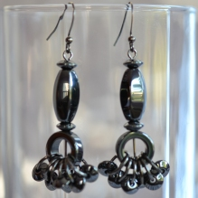 Signumine hematite earrings with