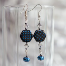 Fronsinine earrings with crystals