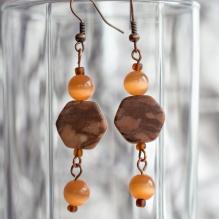 Fideline earrings with orange beads